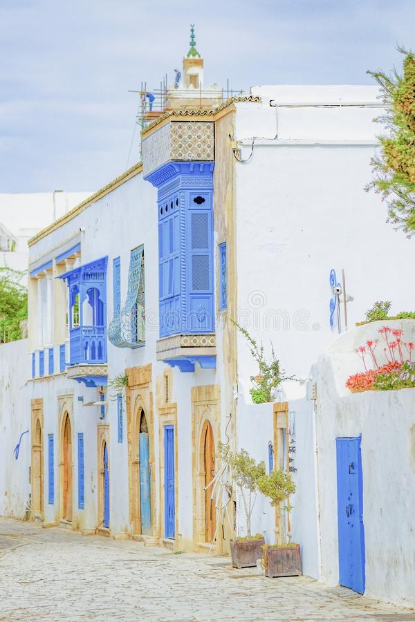 Dorf in Tunesien stockbild