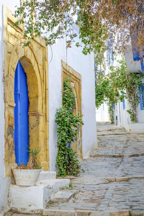 Dorf in Tunesien stockfotos
