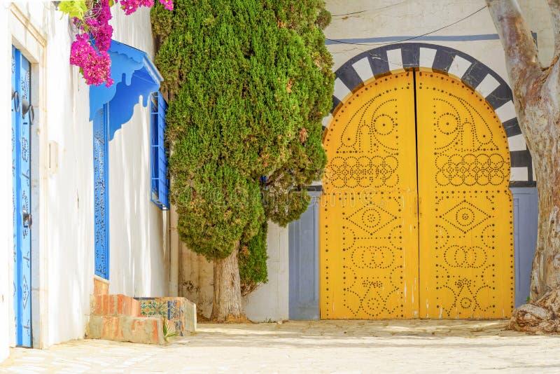 Dorf in Tunesien stockfotografie
