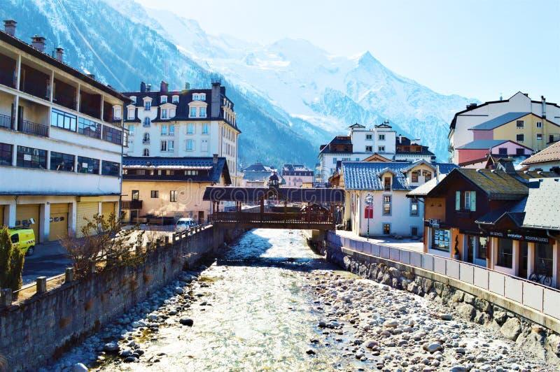 Dorf und Umgebungen Tzoumaz lizenzfreie stockbilder