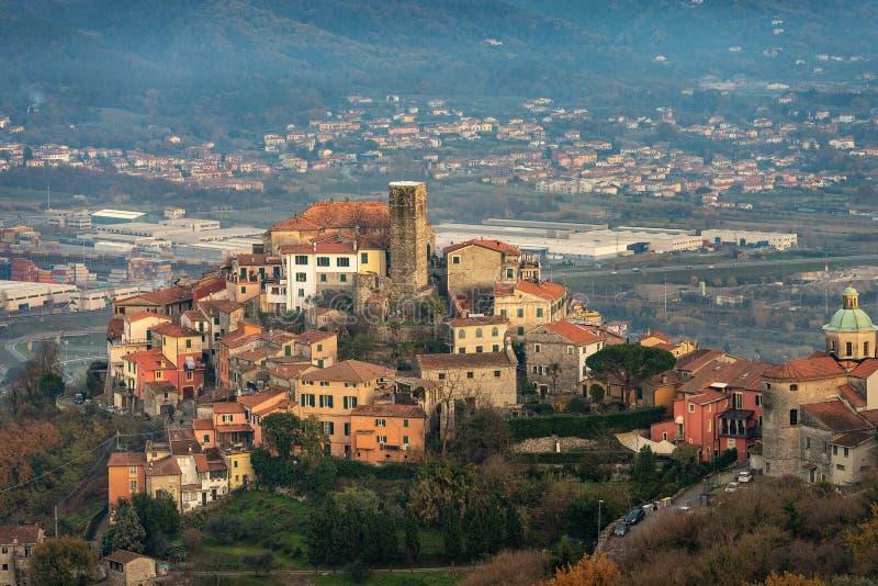 Dorf Vezzano Ligure - La Spezia Ligurien Italien stockfotografie