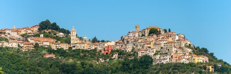 Dorf Vezzano Ligure - La Spezia Ligurien Italien stockfotos
