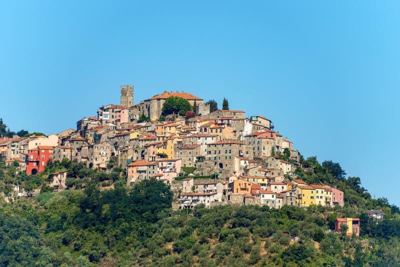 Dorf Vezzano Ligure - La Spezia Ligurien Italien stockbilder