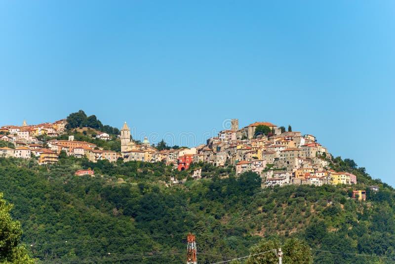 Dorf Vezzano Ligure - La Spezia Ligurien Italien stockfoto