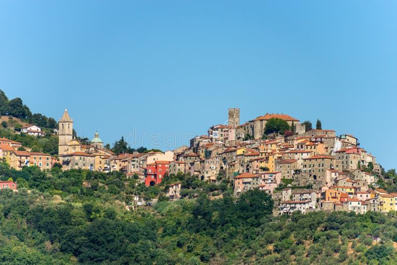 Dorf Vezzano Ligure - La Spezia Ligurien Italien lizenzfreie stockfotografie