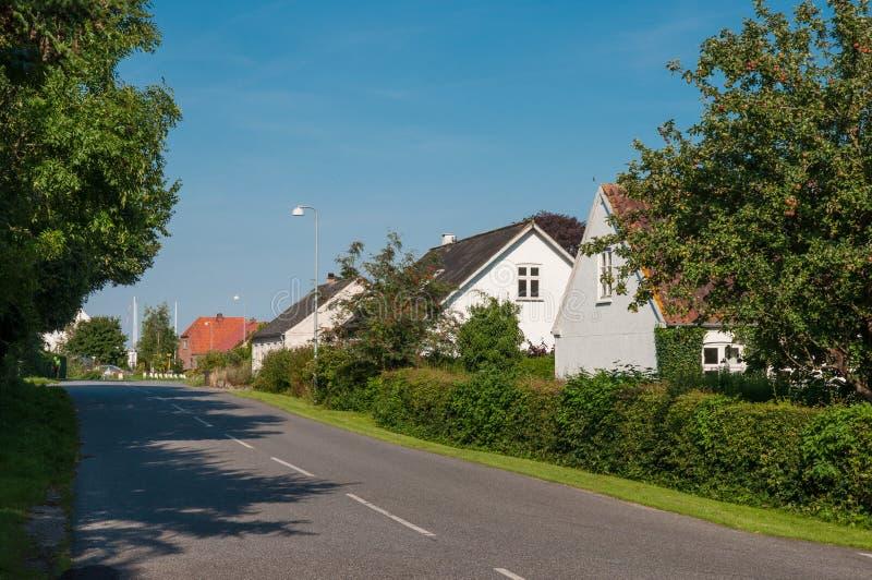 Dorf von Askeby in Dänemark lizenzfreies stockbild