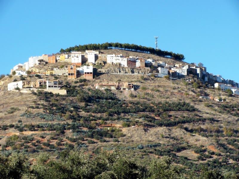 Dorf von Chiclana De Segura in Jaen lizenzfreie stockfotos