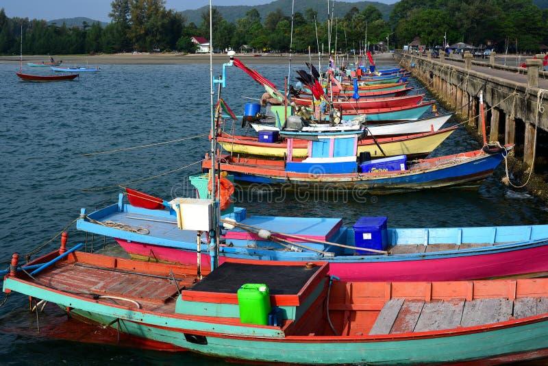 Dorf von fishman am chantaburi stockfotos