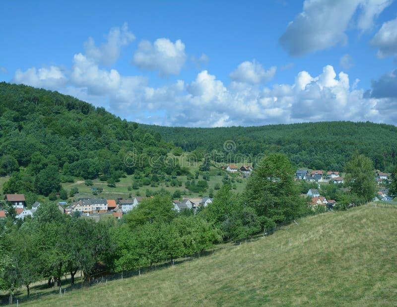 Dorf von Heimbuchenthal, Spessart, Bayern, Deutschland stockfotos