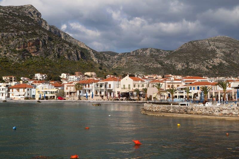 Dorf von Monemvasia bei Griechenland stockbilder