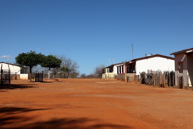 Dorf von Queixo Dantas in Brasilien stockbilder