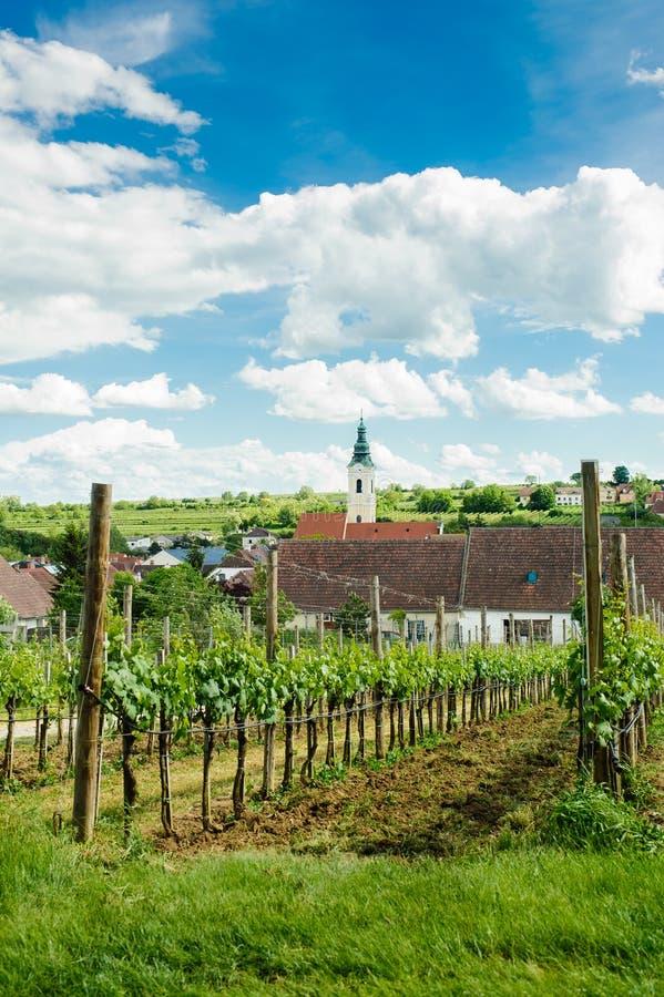 Dorf in Weinviertel lizenzfreie stockfotos