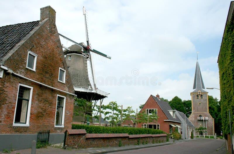 Dorfansicht in Winsum stockfotos
