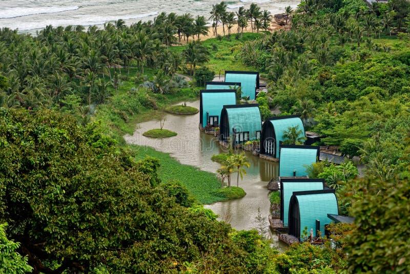 Dorferholungsort in Vietnam stockfotos