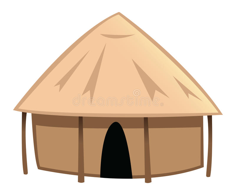 Dorfhütte stock abbildung