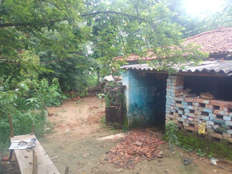 Dorfhaus Indien lizenzfreies stockfoto