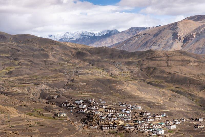 Dorfleben, Spiti, tibetanisch, himachal lizenzfreie stockfotografie