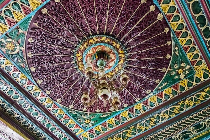 Dorfräume Gumushane Saricicek, ein populäres Haus für seine hölzernen Dekorationen lizenzfreies stockbild