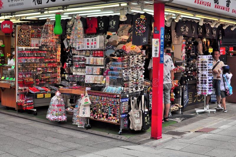Dori van Nakamise, Sensoji, Asakusa, Tokyo, Japan stock afbeeldingen