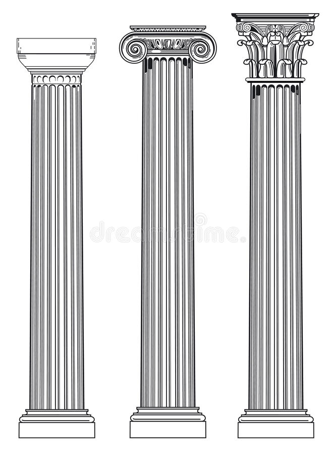 Free Doric, Ionian And Corinthian Royalty Free Stock Image - 20884346