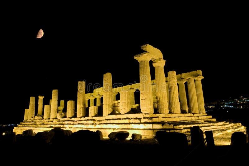 Doric Tempel von Heracles in Agrigent stockbild