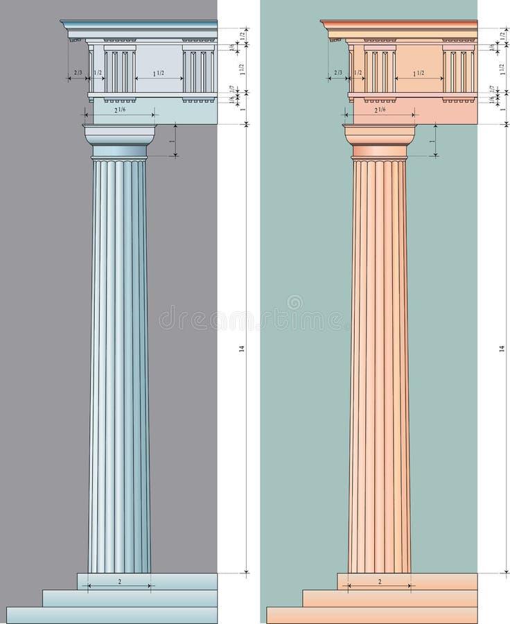 Doricprop ilustração do vetor