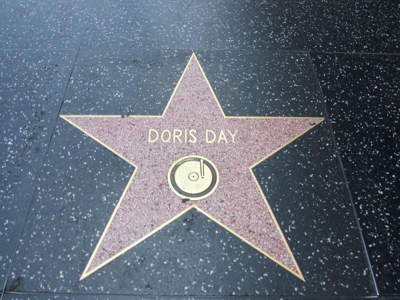 Doris dnia gwiazda w Hollywood obraz royalty free