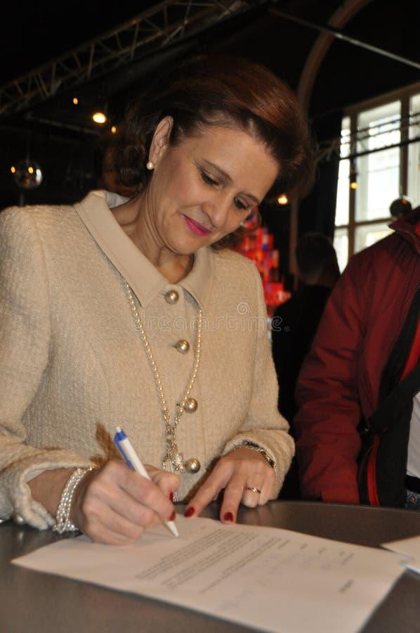 Doris Fiala, membre des sig cantonaux du parlement et de partie de FDP image libre de droits