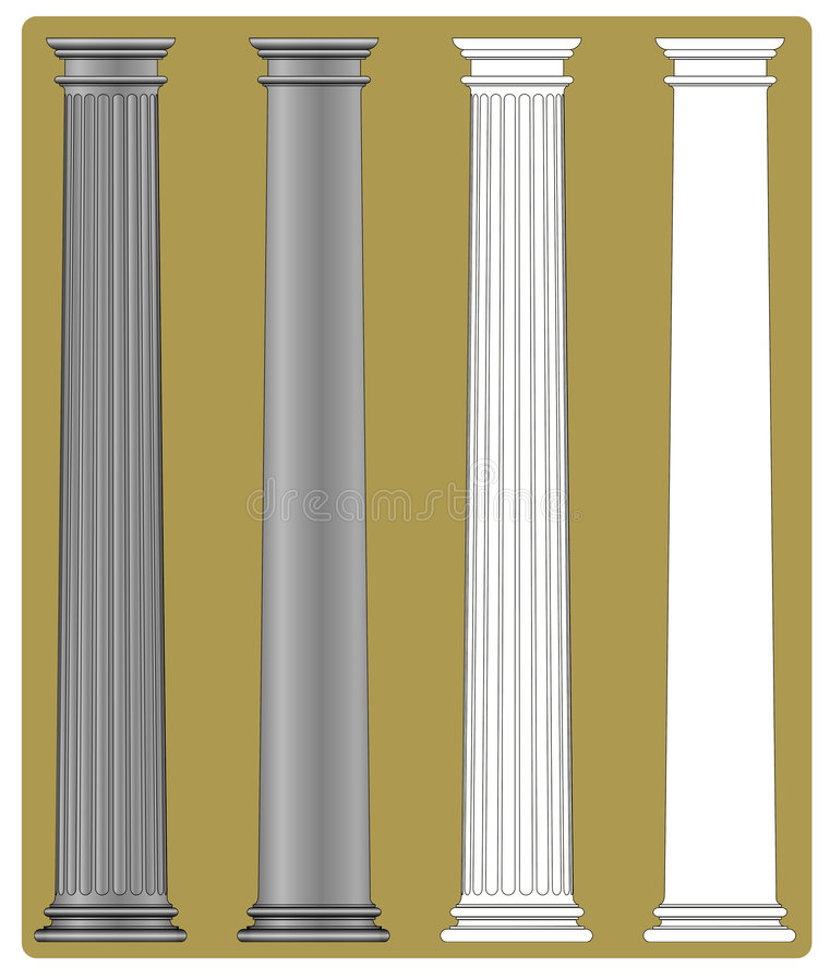 Dorische Kolom royalty-vrije illustratie