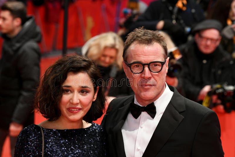 Dorka Gryllus en Sebastian Koch tijdens Berlinale 2018 royalty-vrije stock foto