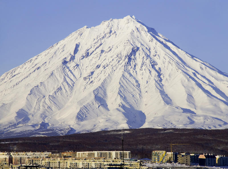 dormant vulkan arkivbild