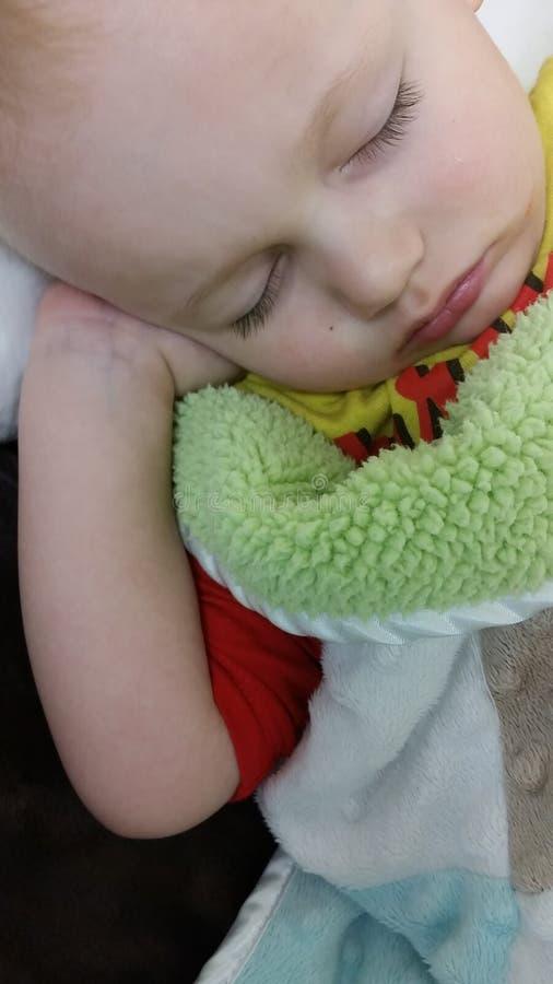 Dormida da criança fotografia de stock