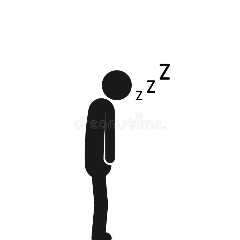 Dormido en el hombre durmiente del movimiento ilustración del vector