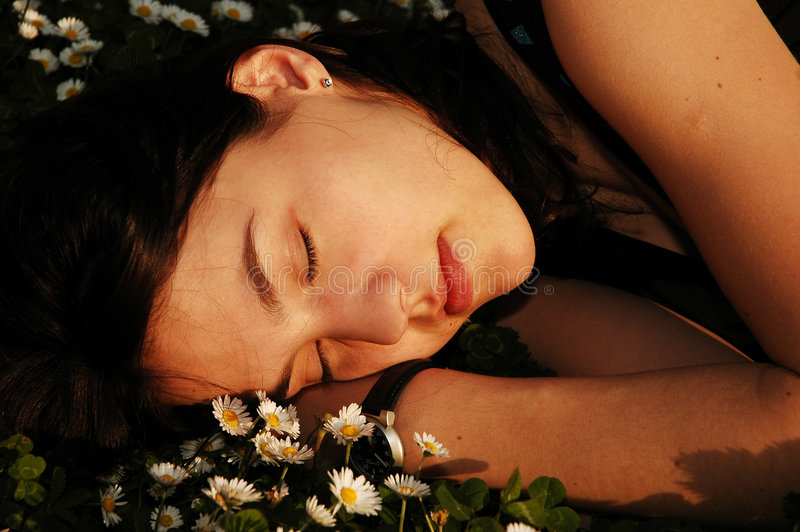 Dormindo as flores 5 foto de stock royalty free
