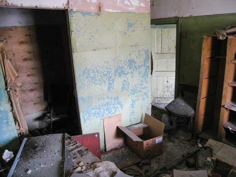 Dormitório do corpo e dos porões em Khamovniki Construção antiga antiga construída antes da inundação do século XIX fotos de stock