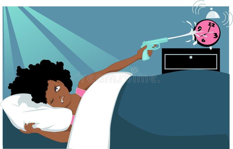 Dormita o botão ilustração stock