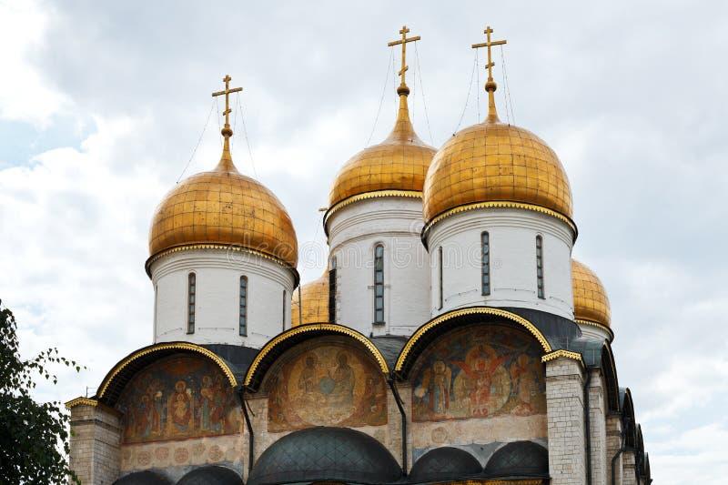 Dormition大教堂在克里姆林宫 免版税库存图片