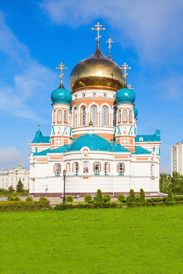 Dormition大教堂,鄂木斯克 免版税库存照片