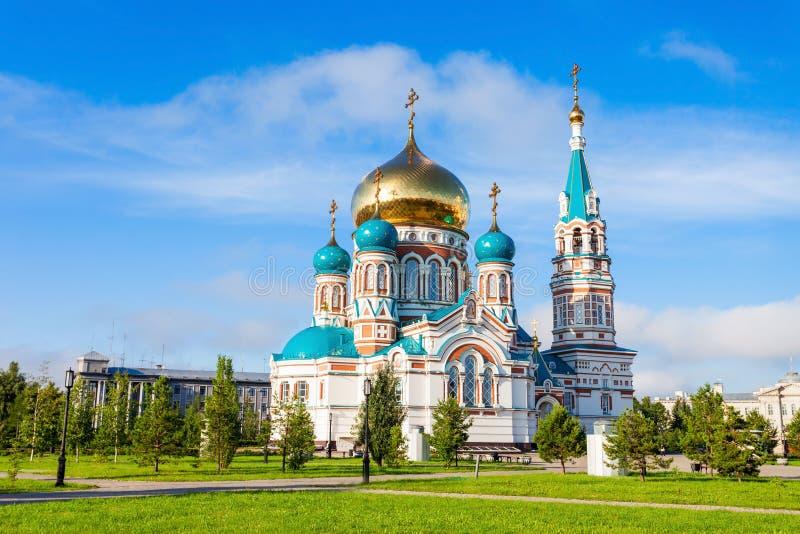 Dormition大教堂,鄂木斯克 免版税库存图片
