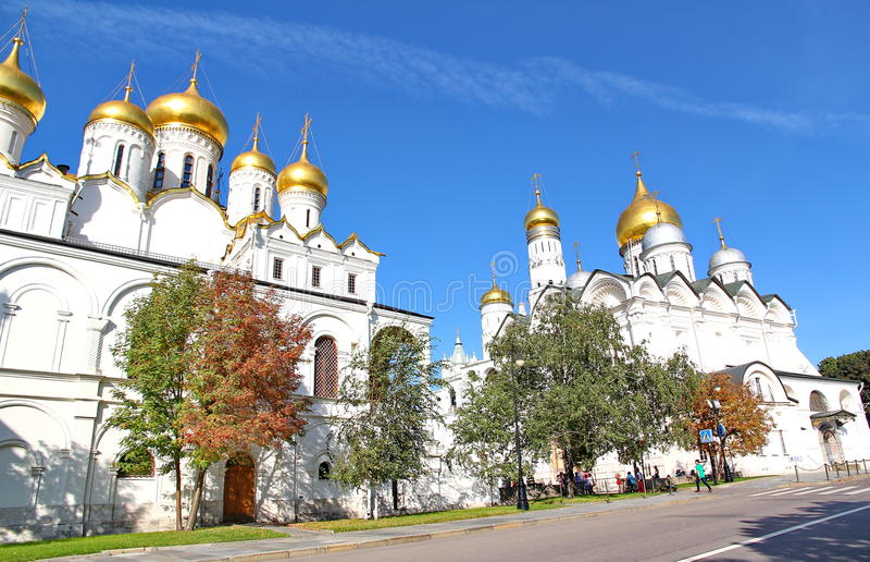 Dormition的大教堂在克里姆林宫 免版税图库摄影