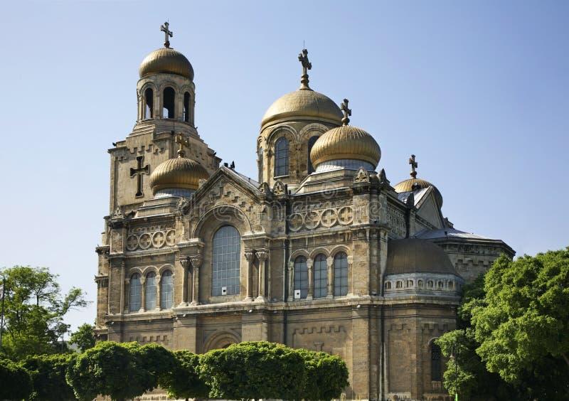Dormition матери собора бога в Варне bulbed стоковая фотография