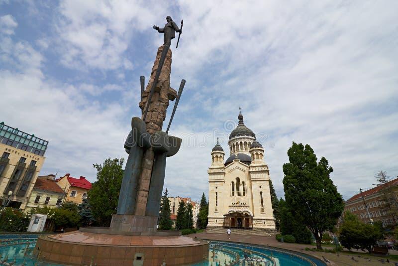 Dormition румына собора Theotokos: Catedrala Adormirea Maicii Domnului Cluj, Румыния стоковые фотографии rf