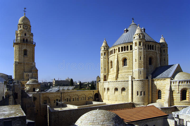 Dormition Abtei - Jerusalem. stockfoto