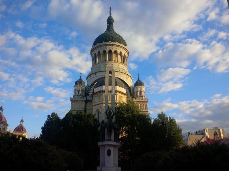 Dormition av den Theotokos domkyrkan från Cluj-Napoca royaltyfria foton