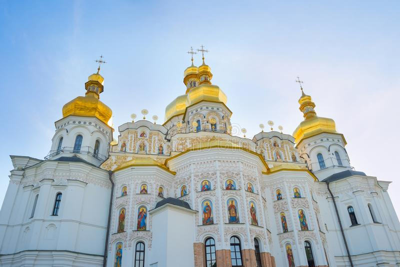 Dormition Cathedral Kiev Pechersk Lavra stock photos
