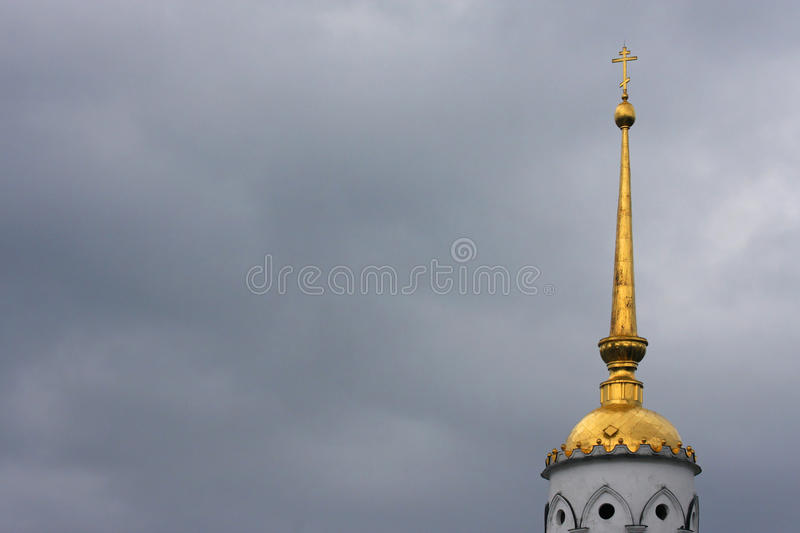 Download Dormition Cathedral Tower In Bad Weather Stock Image - Image: 26596793