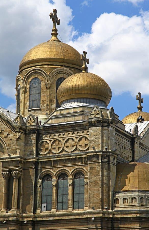 Dormition della madre della cattedrale di Dio, Varna - Bulgaria fotografia stock