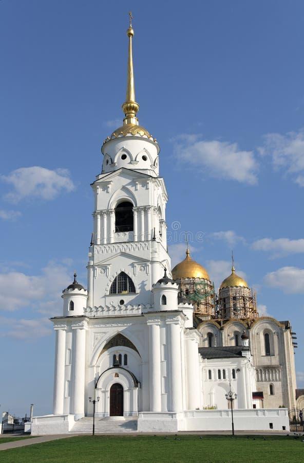 Dormition Kathedrale in Vladimir, Russland stockfotos