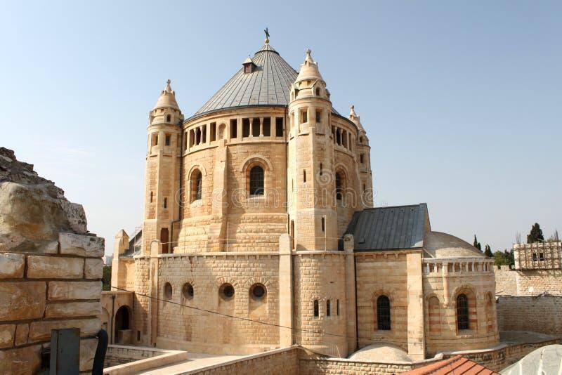 Dormition Kirche, Jrusalem stockbilder