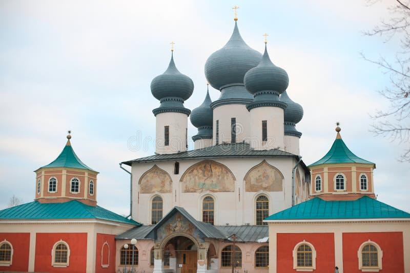 dormition klasztoru tikhvin fotografia stock